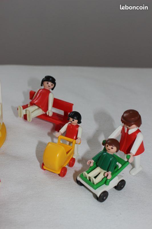 Playmobil jardin de récréation 3416-a + carrousel vintage 3195-a