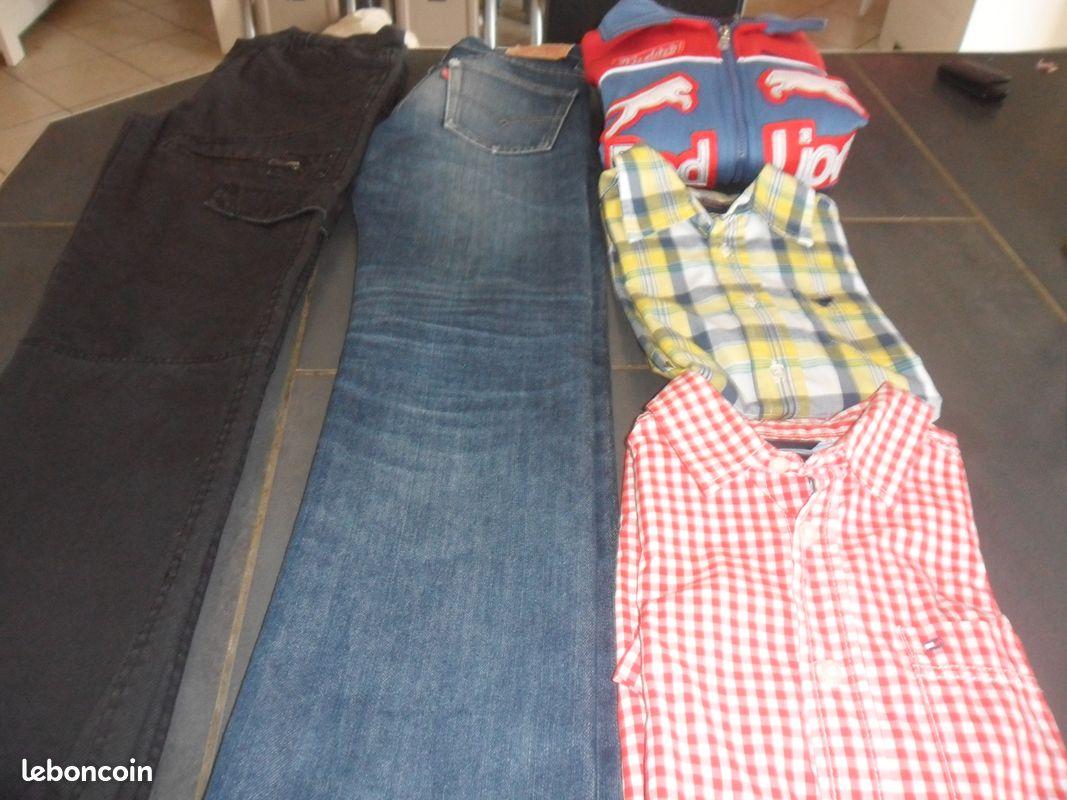 Pantalons veste chemises garçon 10 12 ans (as1112)