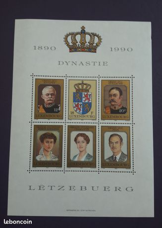 Bloc timbres Luxembourg