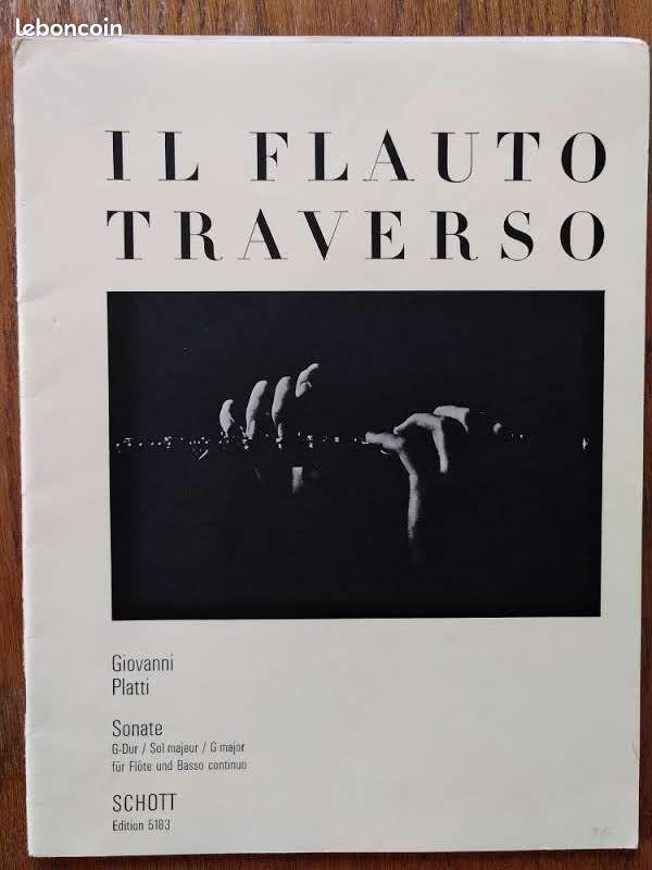 Partition. giovanni benedetto platti. sonate g-dur op. 3 n° 6 - flöte und basso continuo