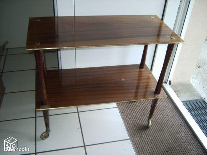 table t l vision roulettes 1968 ameublement orne. Black Bedroom Furniture Sets. Home Design Ideas