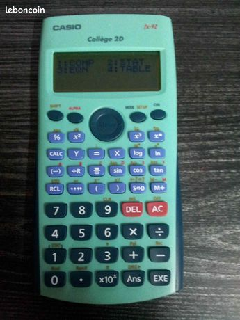 Casio fx-92 College 2D - Allevard - Casio fx-92 College 2D Calculatrice scientifique En excellent état  - Allevard