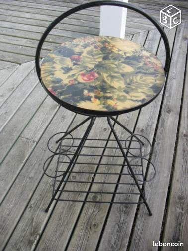 desserte fer forg formica vintage ameublement gironde. Black Bedroom Furniture Sets. Home Design Ideas