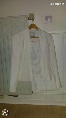 Blazer blanc - Lezennes - Blazer blanc taille M marque Bershka  - Lezennes