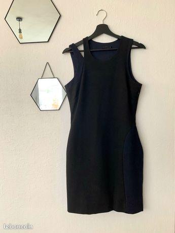 Robe bi-couleur asymétrique