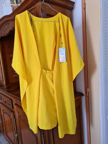 Robe jaune femme