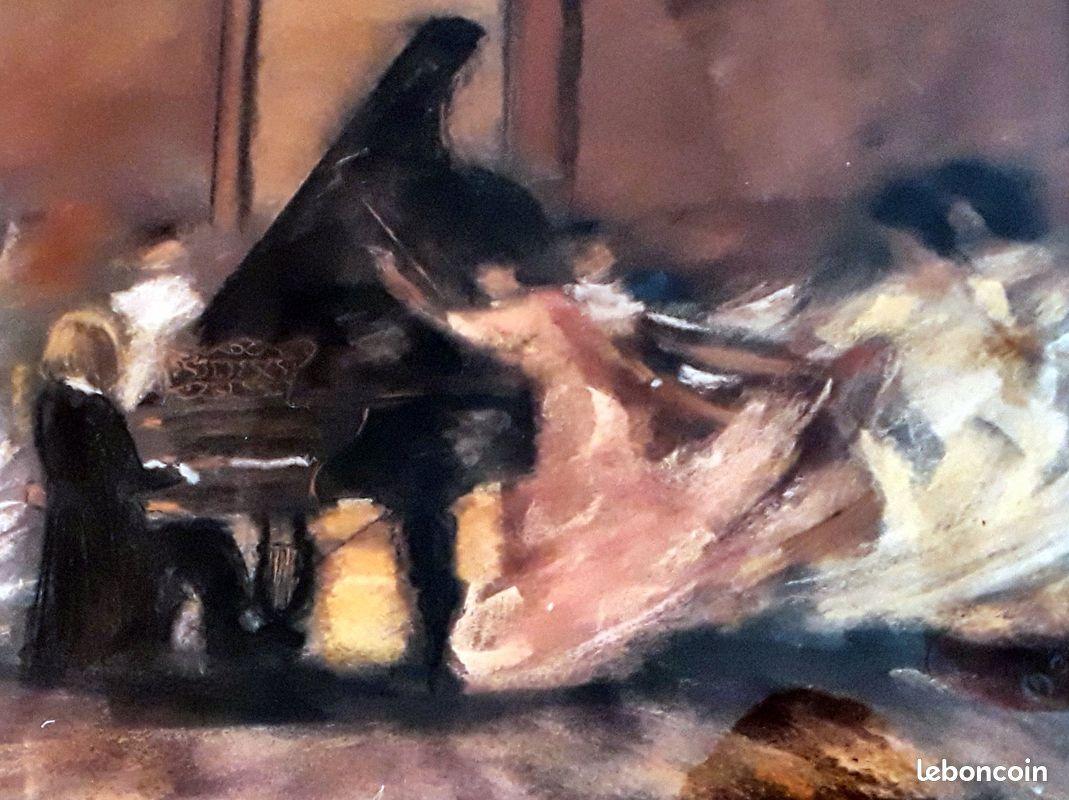 Tableau de giacchi (reproduction) : pianiste
