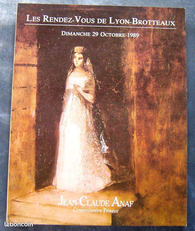 Catalogue enchères 29 octobre 1989 lyon tableaux modernes