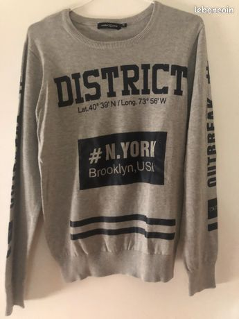 Pull NEUF gris Taille S