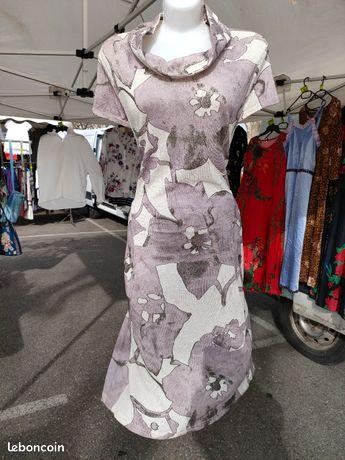 Vintage robe élégante crème lilac à manches courtes/ cérémonie/ cocktail/ mariage/ Déguisement de pr