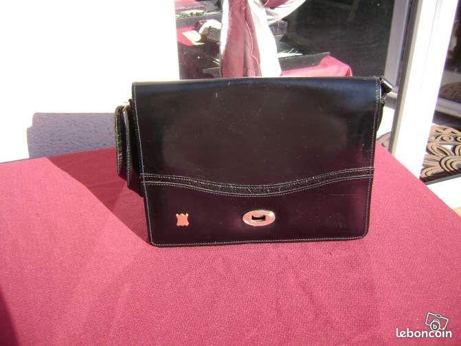 Sac main tout cuir noir vintage tat neuf accessoires - Colissimo agence haute garonne ...