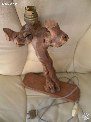 Pied de lampe avec cep de vigne d coration maine et loire for Cep de vigne decoration