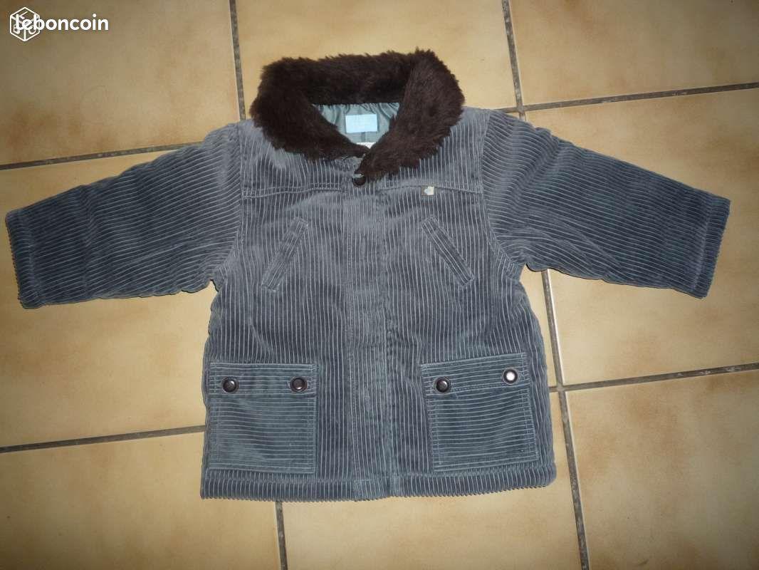 Manteau hiver bien chaud col fourrure t 23 m tbe