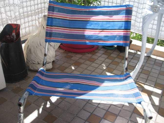 chaise de plage vintage equipement caravaning c te d 39 or. Black Bedroom Furniture Sets. Home Design Ideas