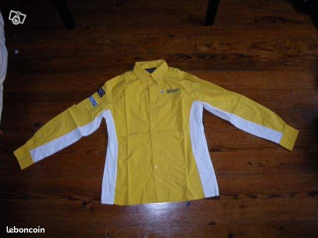 chemise jaune renault sport v tements hautes pyr n es. Black Bedroom Furniture Sets. Home Design Ideas