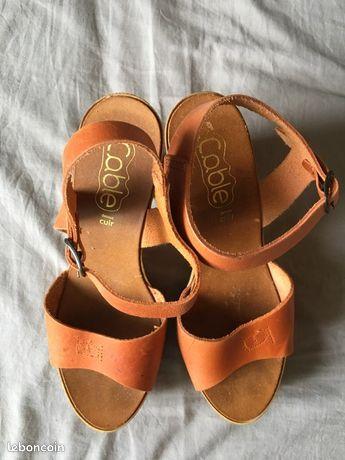 Chaussures été orange
