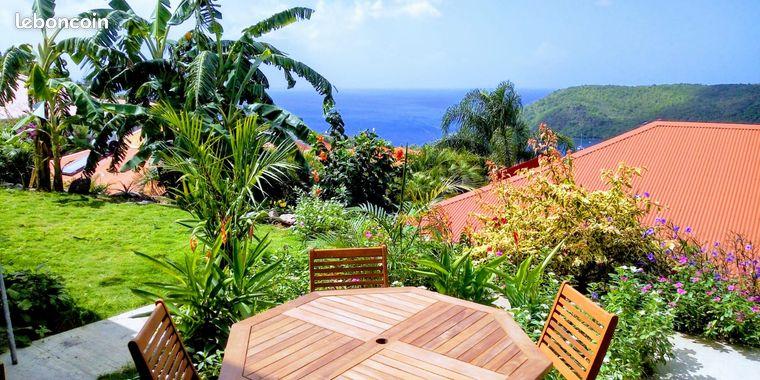 Appartement 2P aux Anses d'Arlet avec vue mer
