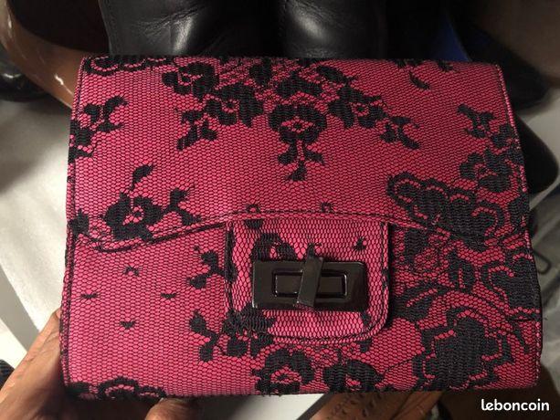 Pochette Zara rose femme