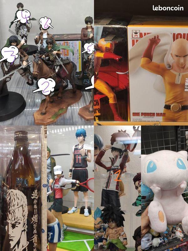 Figurines manga (yu-gi-oh ; attaque des titans ; prince du tennis ; kuroko)