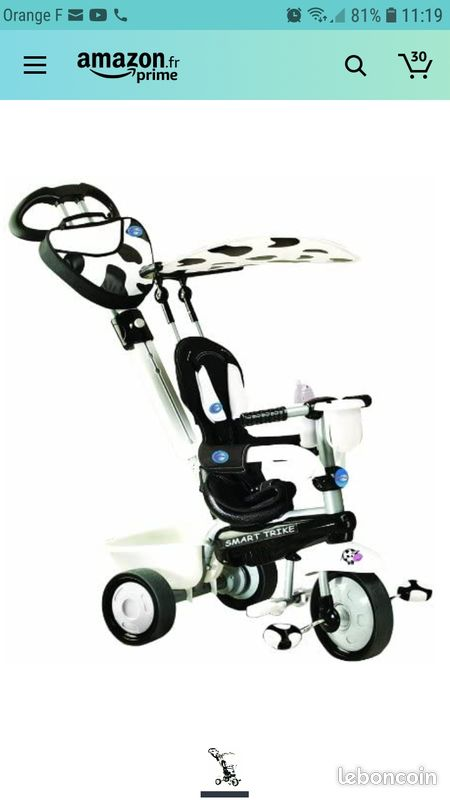 Tricycle smart trike vache