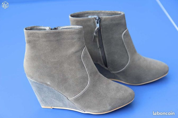 Bottines camaieu marron glac chaussures nord - Marron glace prix ...