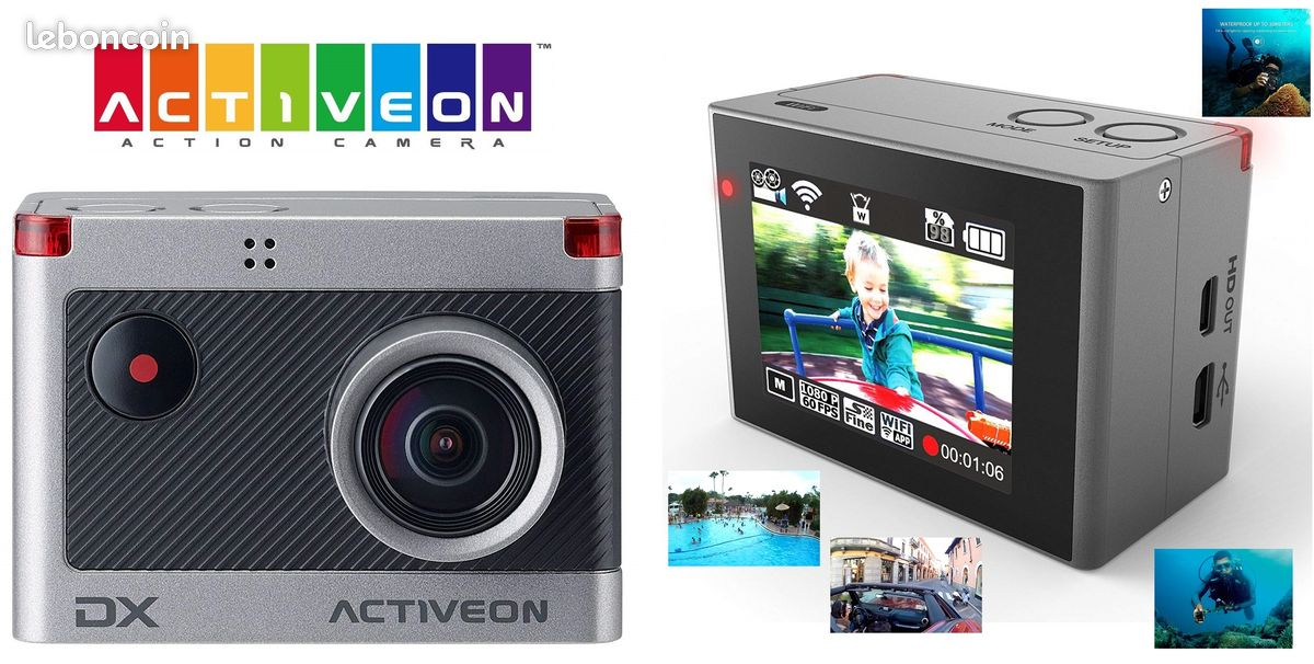 Caméra sport activeon dx-wifi-android- 60m neuf