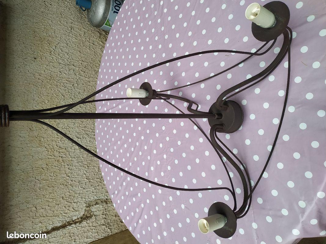 Lustre chandelier 3 branches métal