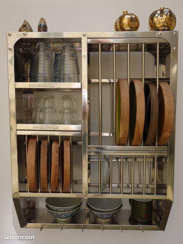 Égouttoir Étagères vaisselier bombay rare – 76x60