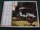 Calendrier ptt 1988 dion bouton 1903 bayard 1912, occasion