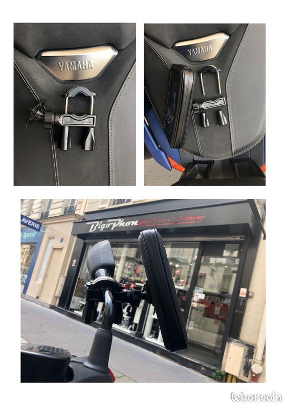 New support téléphone scooter moto vélo trottinette étanche à l'eau et tactile guidon rétroviseur