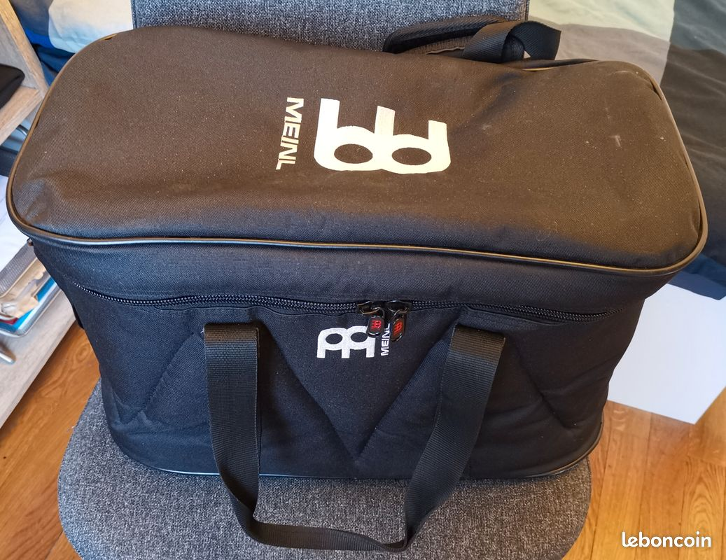 Lp latin percussion m201/aw - bongos matador naturel + meinl - mbb - housse bongo pro