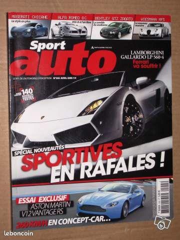 Sport auto n 555 avril 2008 - Grasse - SPORT AUTO N 555 AVRIL 2008 POSSIBILITE D'ENVOYER LE SPORT AUTO A L'ACHETEUR PAR LA POSTE  - Grasse
