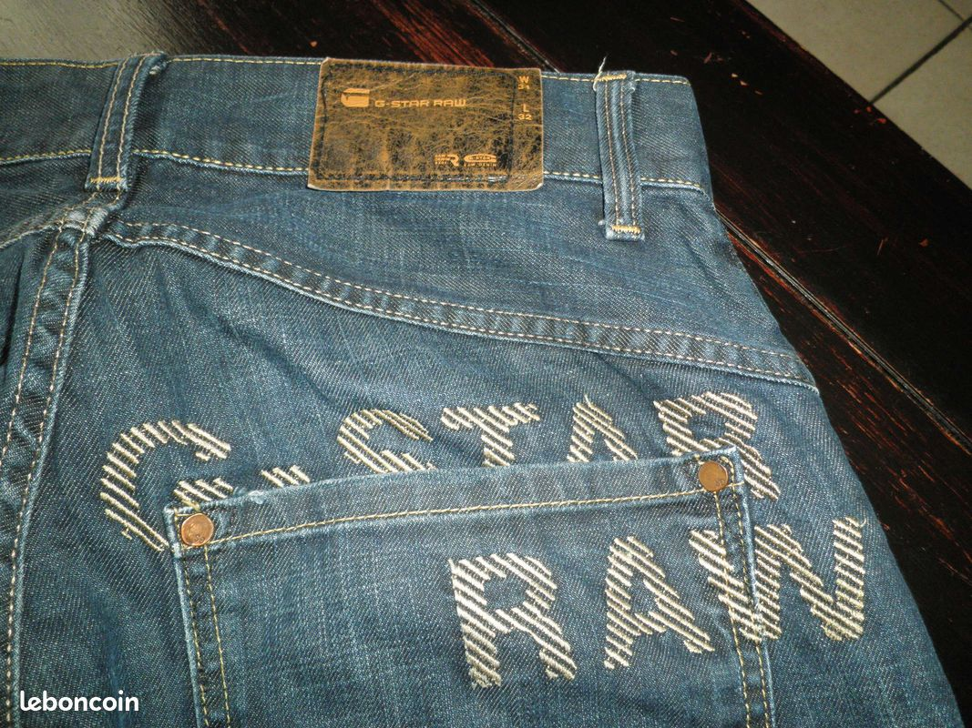 Jean g-star raw modèle ruger straight blizzard embro w31 l32