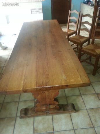 Table en chêne massif et 6 chaises