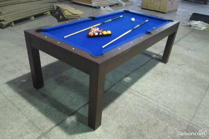 Billard convertible table manger neuf 60 sports hobbies oise lebo - Table billard convertible table a manger ...