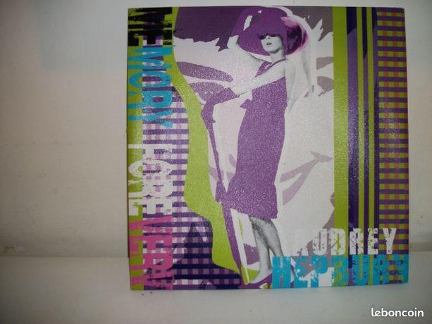 Toile tendue sur cadre Audrey Hepburn 50 sur 50 cm