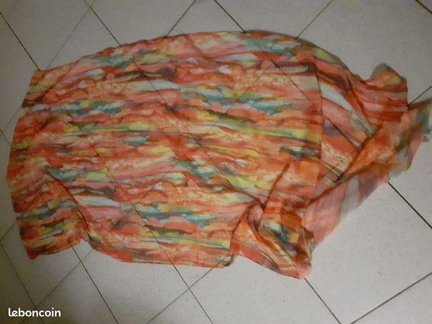 écharpe multicolore