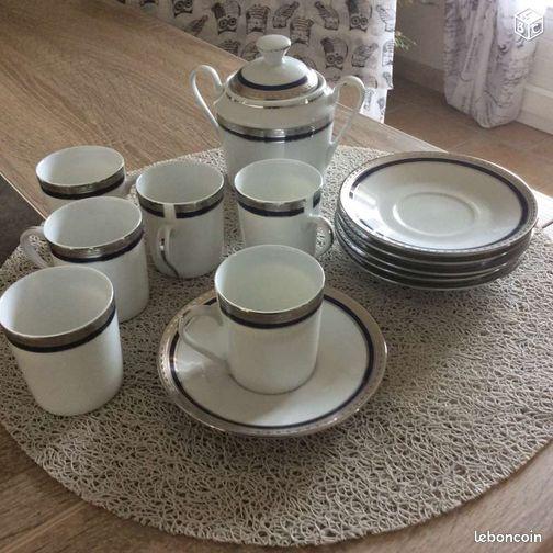 service caf porcelaine de sologne arts de la table cher. Black Bedroom Furniture Sets. Home Design Ideas
