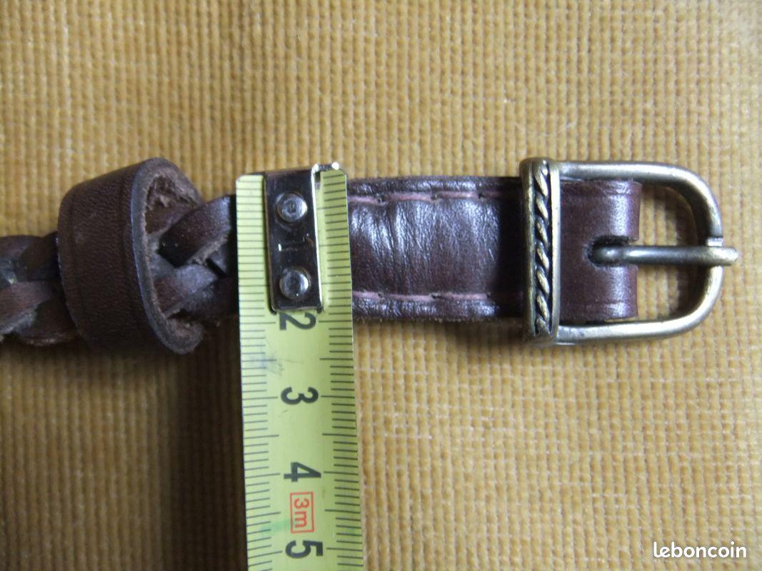 Ceinture cuir 2 cm,