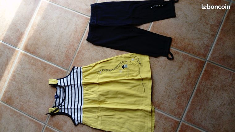 Ensemble legging et robe été 6 ans - Donnery - joli ensemble legging et robe Terre et Mer état neuf  - Donnery