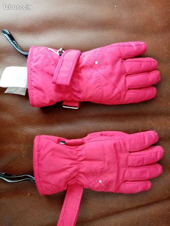 Paire de gants de ski fille
