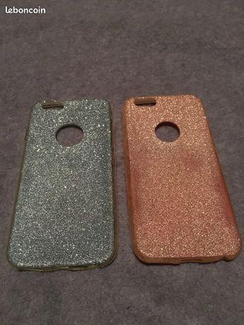Coque portable rose et bleu iPhone 6/6S