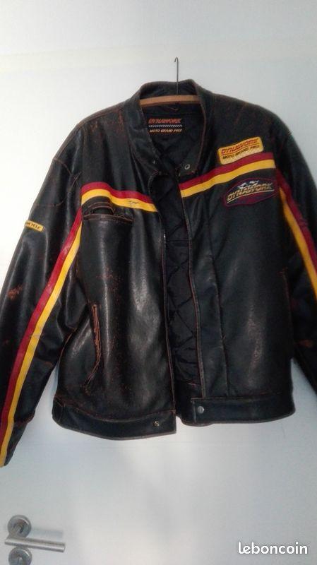 Veste moto vintage taille l année 80