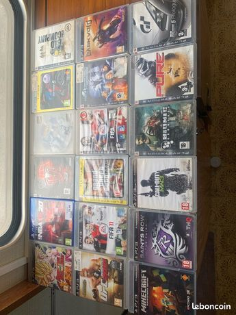 Lot de 18 jeux ps3