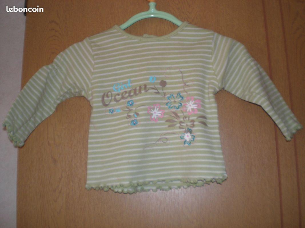 Sweat/pull/gilet/ tee shirt manch long fille 6 mois