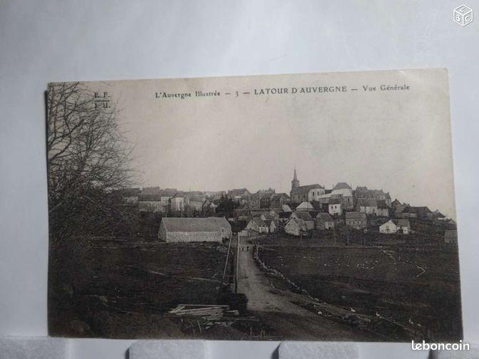 Cartes postale ancienne de latour d 39 auvergne collection puy de d me leb - Leboncoin auvergne immobilier ...