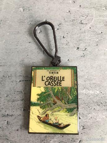 Porte clé Tintin et l'Oreille Cassée «Coinderoux» années 80