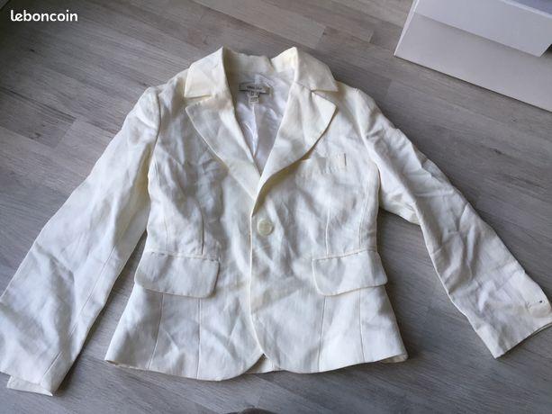 Veste de tailleur blanc cassé mango S