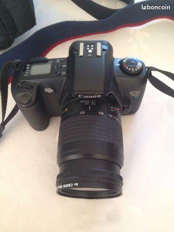 Appareil photo Canon -  - Appareil photo argentique Marque: canon Model: EOS 500 N Zoom interchangeable Vendu avec un zoom 28-80 + sac de transport Canon + notice d'utilisation Très bon etat  -