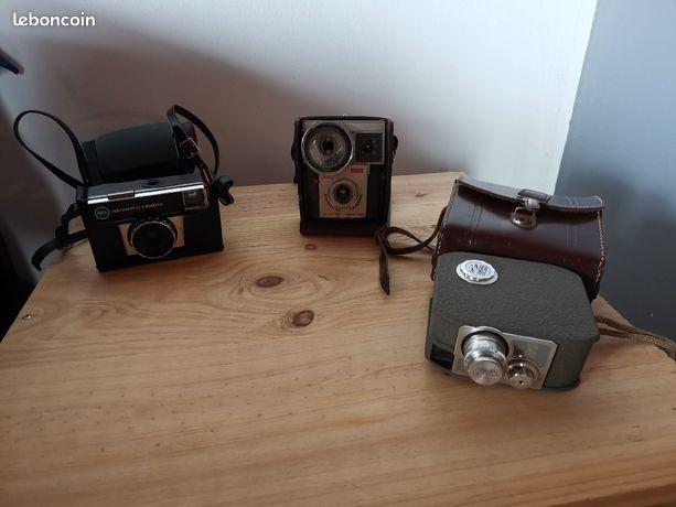 Lot appareils photos anciens et accessoires